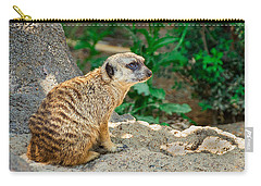 Watchful Meerkat Carry-all Pouch by Jon Woodhams