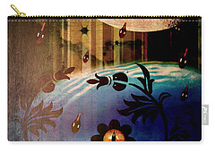 Carry-all Pouch featuring the mixed media Watching by Ally  White