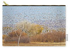 Carry-all Pouch featuring the photograph Watching Over The Flock by Bryan Keil