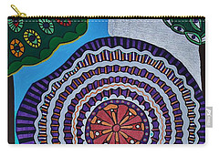 Carry-all Pouch featuring the painting Watching The Show by Barbara St Jean