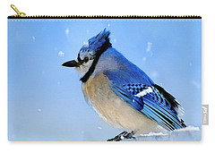 Watching The Snow Carry-all Pouch by Betty LaRue