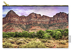 Carry-all Pouch featuring the photograph Watchman Trail - Zion by Tammy Wetzel