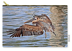Carry-all Pouch featuring the photograph Water Ballet - Brown Pelican by HH Photography of Florida