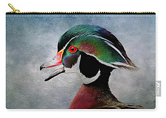 Water Color Wood Duck Carry-all Pouch by Steve McKinzie