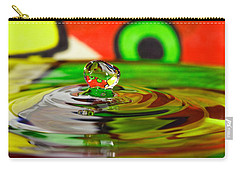 Carry-all Pouch featuring the photograph Water Drop by Peter Lakomy