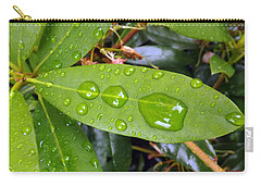 Water Droplets On Leaf Carry-all Pouch