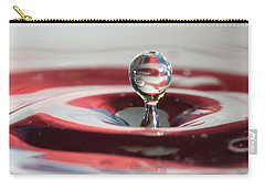 Carry-all Pouch featuring the photograph Water Drops Jumping by Jeff Folger