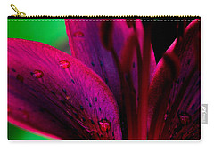 Water-drops On The Petal Carry-all Pouch by Shelby  Young
