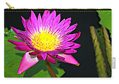 Carry-all Pouch featuring the photograph Water Flower 10089 by Marty Koch