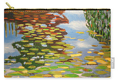 Water Lilies Carry-all Pouch by Karyn Robinson