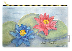 Water   Lillies  Carry-all Pouch by Pamela  Meredith
