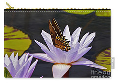 Water Lily And Swallowtail Butterfly Carry-all Pouch