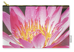 Carry-all Pouch featuring the photograph Pink Water Lily Beauty by Belinda Lee