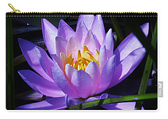 Water Lily Blues Carry-all Pouch by Sherman Perry