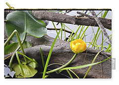 Carry-all Pouch featuring the photograph Water Lily by Cathy Mahnke