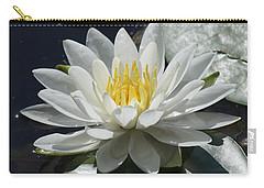 Carry-all Pouch featuring the photograph Water Lily II by Anita Oakley