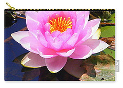 Water Lily In Pink Carry-all Pouch