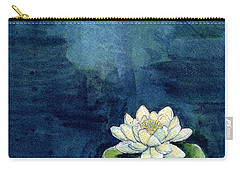 Water Lily Carry-all Pouch by Katherine Miller
