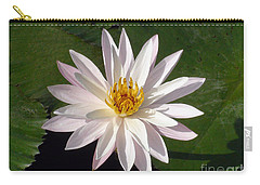 Carry-all Pouch featuring the photograph Water Lily by Sergey Lukashin