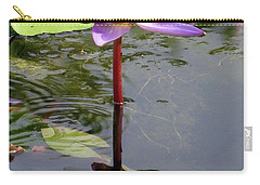 Water Lily - Shaded Carry-all Pouch by Pamela Critchlow