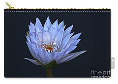 Water Lily Shades Of Blue And Lavender Carry-all Pouch