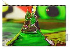 Carry-all Pouch featuring the photograph Water Mountain by Peter Lakomy