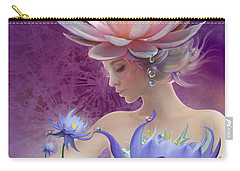 Water Of Life - In Violet Carry-all Pouch