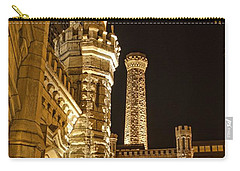 Water Tower At Night Carry-all Pouch by Daniel Sheldon