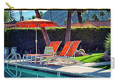 Water Waiting Palm Springs Carry-all Pouch by William Dey