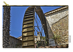 Carry-all Pouch featuring the photograph Water Wheel At Moulin A Huile Michel by Allen Sheffield
