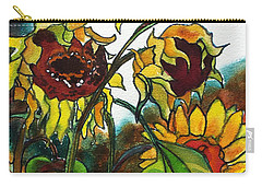 Sunflowers On The Rise Carry-all Pouch
