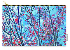 Carry-all Pouch featuring the photograph Watercolor Autumn Trees by Tikvah's Hope