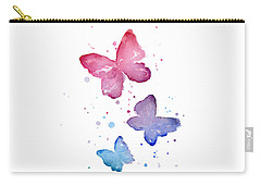 Watercolor Butterflies Carry-all Pouch by Olga Shvartsur