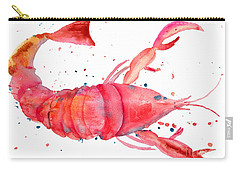 Watercolor Illustration Of Lobster Carry-all Pouch