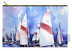 Watercolor Of Scow Boats Racing Torch Lake Mi Carry-all Pouch