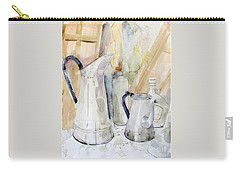 Watercolor Still Life Of White Cans Carry-all Pouch
