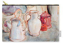 Watercolor Still Life With Red Can Carry-all Pouch