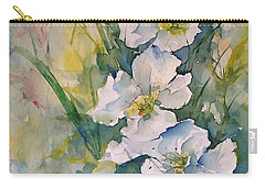 Watercolor Wild Flowers Carry-all Pouch