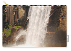 Carry-all Pouch featuring the photograph Waterfall Rainbow by Mary Carol Story