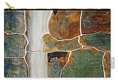 Waterfall Slate Carry-all Pouch by Holly Blunkall