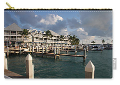 Carry-all Pouch featuring the photograph Waterfront Key West by Christiane Schulze Art And Photography
