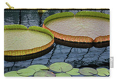 Waterlilies And Platters 2 Carry-all Pouch by Byron Varvarigos
