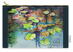 Waterlilies In Shadow Carry-all Pouch