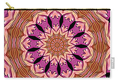 Waterlily Flower Kaleidoscope 2 Carry-all Pouch by Rose Santuci-Sofranko