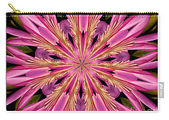 Waterlily Flower Kaleidoscope 4 Carry-all Pouch by Rose Santuci-Sofranko