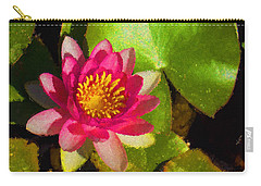 Waterlily Impression In Fuchsia And Pink Carry-all Pouch