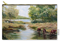 Carry-all Pouch featuring the painting Waterloo by Lee Piper