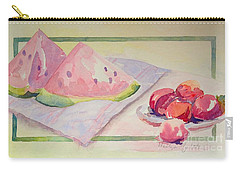 Carry-all Pouch featuring the painting Watermelon by Marilyn Zalatan