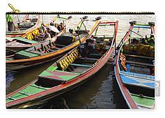 Watertaxis At The Yangon River Nan Thida Ferry Terminal Yangon Myanmar Carry-all Pouch