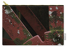 Carry-all Pouch featuring the photograph Waterwheel Up Close by Daniel Reed